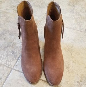 Frye Shoes - NWT FRYE & CO. LEATHER TAN COGNAC ANKLE BOOTIES
